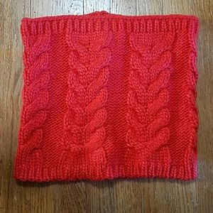 Gap Red Cow Neck Knitted Scarf